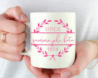 Gamma Phi Beta Since Established Coffee Mug