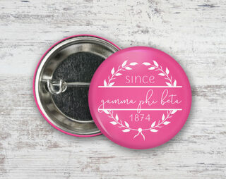 Gamma Phi Beta Since Founded Button