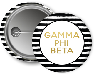 Gamma Phi Beta Striped Button