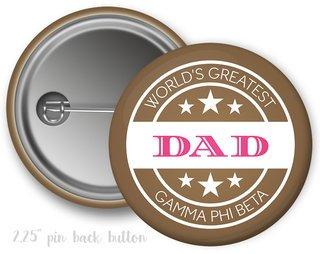 Gamma Phi Beta World's Greatest Dad Button
