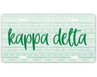 Kappa Delta Aztec License Plate