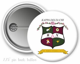 Kappa Delta Chi Color Crest - Shield Button
