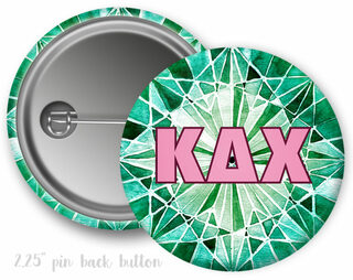 Kappa Delta Chi Emerald Button