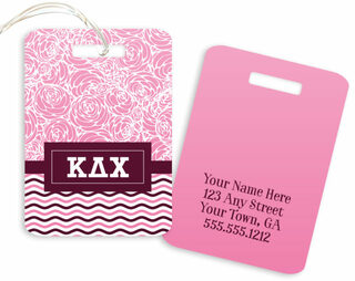 Kappa Delta Chi Geometric Luggage Tag