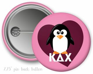 Kappa Delta Chi Heart Mascot Button