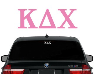 Kappa Delta Chi Letters Decal