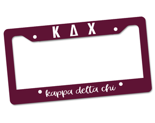 Kappa Delta Chi License Plate Frame