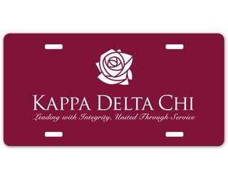 Kappa Delta Chi Logo License Plate