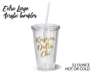 Kappa Delta Chi Metallic Gold XL Tumbler