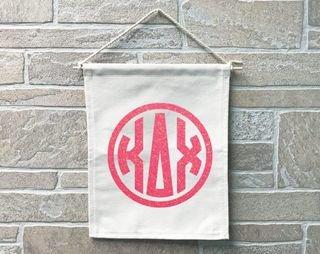 Kappa Delta Chi Monogram Banner