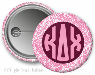 Kappa Delta Chi Monogram Button