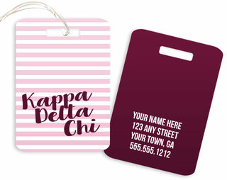 Kappa Delta Chi Personalized Striped Luggage Tag