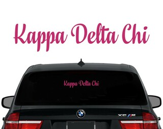 Kappa Delta Chi Script Decal