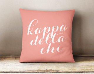 Kappa Delta Chi Script Pillow