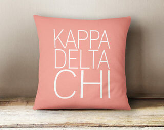 Kappa Delta Chi Simple Pillow