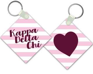 Kappa Delta Chi Striped Mascot Keychain
