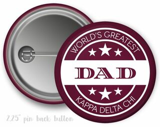 Kappa Delta Chi World's Greatest Dad Button