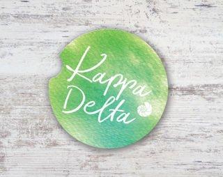 Kappa Delta Sandstone Car Cup Holder Coaster