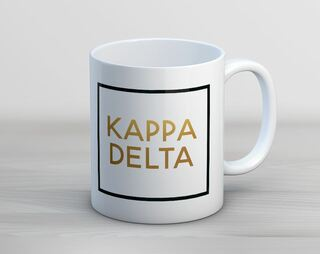 Kappa Delta Faux Foil Coffee Mug