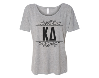 Kappa Delta Floral Letters Flowy Tee