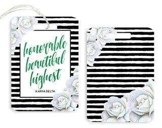 Kappa Delta Floral Motto Luggage Tag