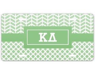 Kappa Delta Geometric License Plate