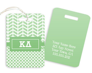 Kappa Delta Geometric Luggage Tag