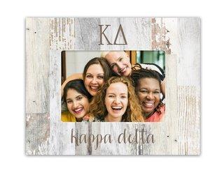 Kappa Delta Letters Barnwood Picture Frame