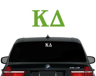 Kappa Delta Letters Decal