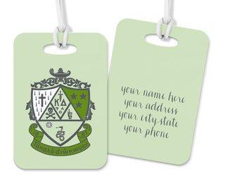 Kappa Delta Crest - Shield Luggage Tag