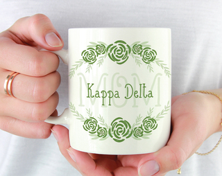 Kappa Delta Mom Floral Mug