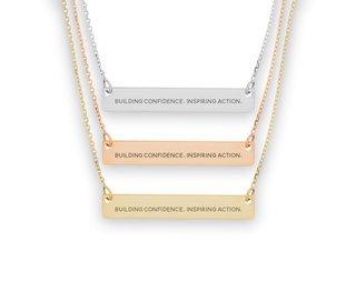 Kappa Delta Motto Bar Necklace