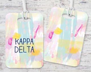 Kappa Delta Pastel Strokes Luggage Tag