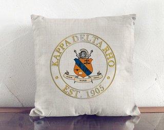 Kappa Delta Rho Crest Linen Pillow