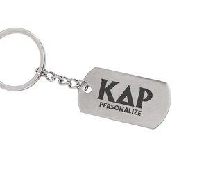 Kappa Delta Rho Dog Tag Style Custom Keychain