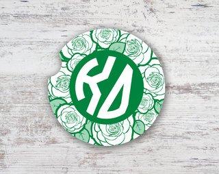 Kappa Delta Roses Sandstone Car Cup Holder Coaster