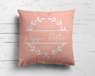 Kappa Delta Since Established Pillow