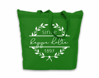 Kappa Delta Since Established Tote bag