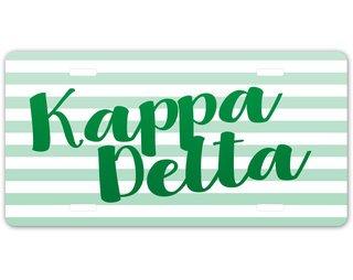 Kappa Delta Striped License Plate