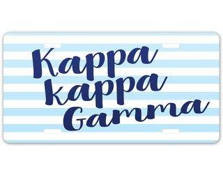 Kappa Kappa Gamma License Plate Frames Car Accessories