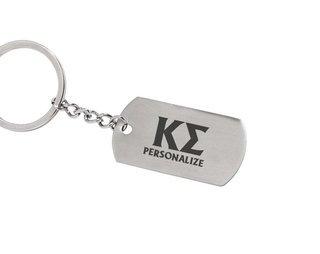 Kappa Sigma Dog Tag Style Custom Keychain
