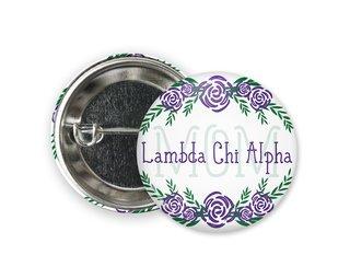 Lambda Chi Alpha Mom Floral Button