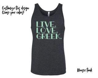 Live Love Greek Tank