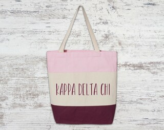 Kappa Delta Chi Tri Color Tote Bag