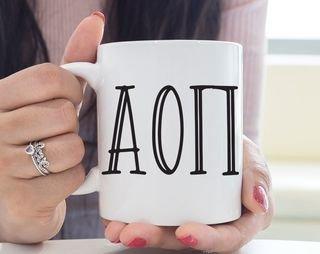 Alpha Omicron Pi Inline Mug