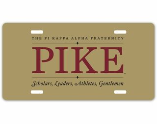 PIKE logo License Plate Cover