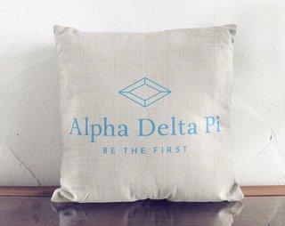 Alpha Delta Pi Linen Logo Pillow
