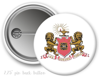 Phi Mu Color Crest - Shield Button