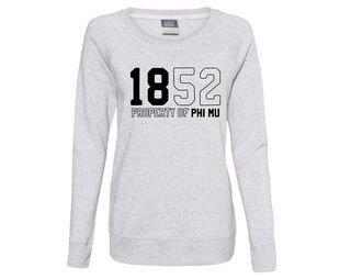 Phi Mu Established Crewneck Sweatshirt