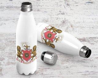 Phi Mu Crest - Shield Stainless Steel Water Bottle